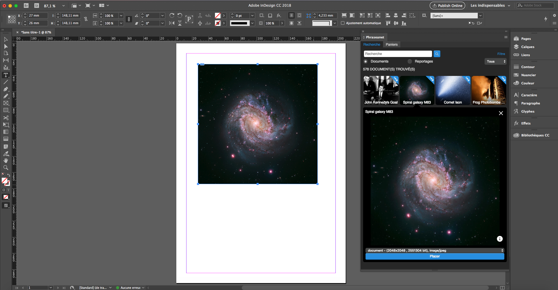 Plugin Indesign pour Phraseanet: en images! | Phraseanet - Open